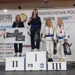 Podium kobiet na Mistrzostwach Polski w Brazylijskim Jiu-Jitsu zawodniczka Copacabana Toruń